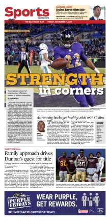 Baltimore Sun Sports Cover - 11/17/2017