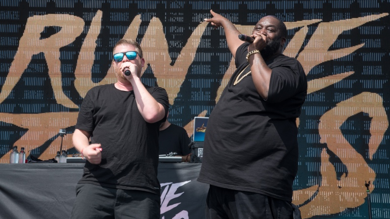 Run the Jewels performed at Moonrise Festival 2017.