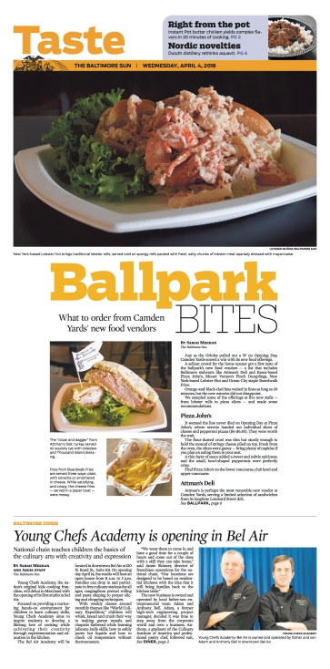 Baltimore Sun Taste Cover - 4/4/2018