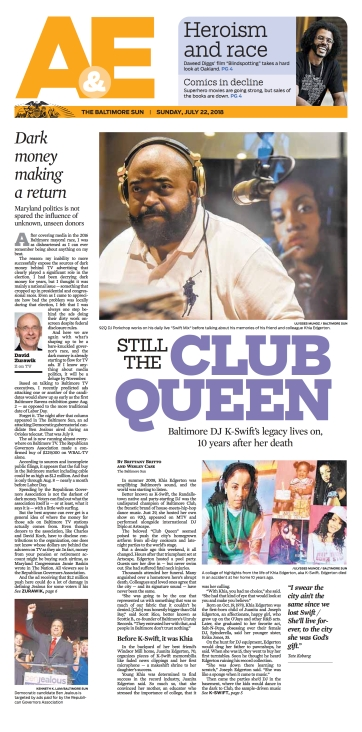 Baltimore Sun Arts & Entertainment Cover - 7/22/18