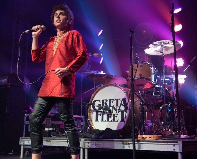 Lead singer Josh Kiszka and drummer Danny Wagner. Greta Van Fleet performed at Rams Head Live! on Wednesday, May 10.