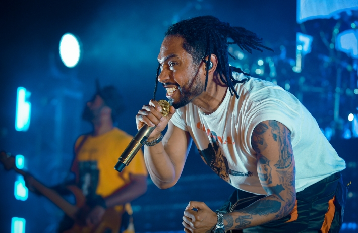 Baltimore,MD-1/6/14- R&B singer Miguel performed Wednesday night at the Modell Performing Arts Center at The Lyric. It was one of his stops on the War & Leisure tour.