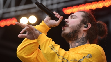 Post Malone performs at Preakness InfieldFest on Saturday, May 19, 2018.